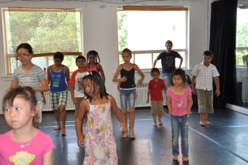 The kids trying different forms of dance at COBA