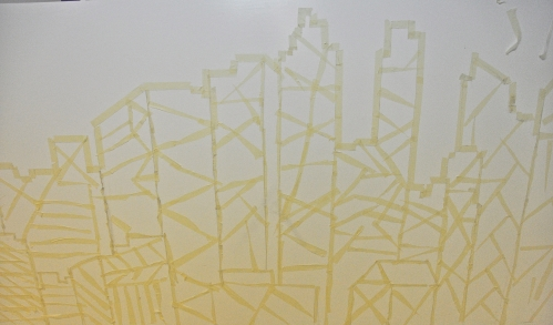 Masking off the Toronto skyline