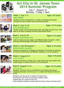 art city summer '14 program(1)